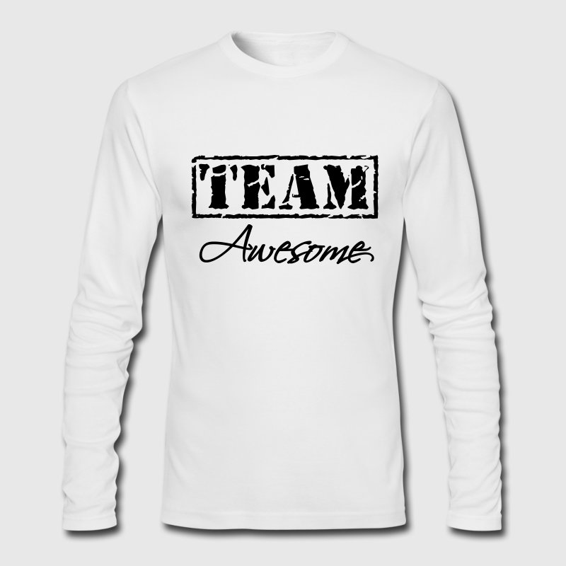 Team Awesome Long Sleeve Shirts - Men's Long Sleeve T-Shirt by Next Level