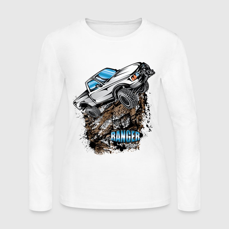White Ford Ranger T-Shirt Long Sleeve Shirts - Women's Long Sleeve Jersey T-Shirt