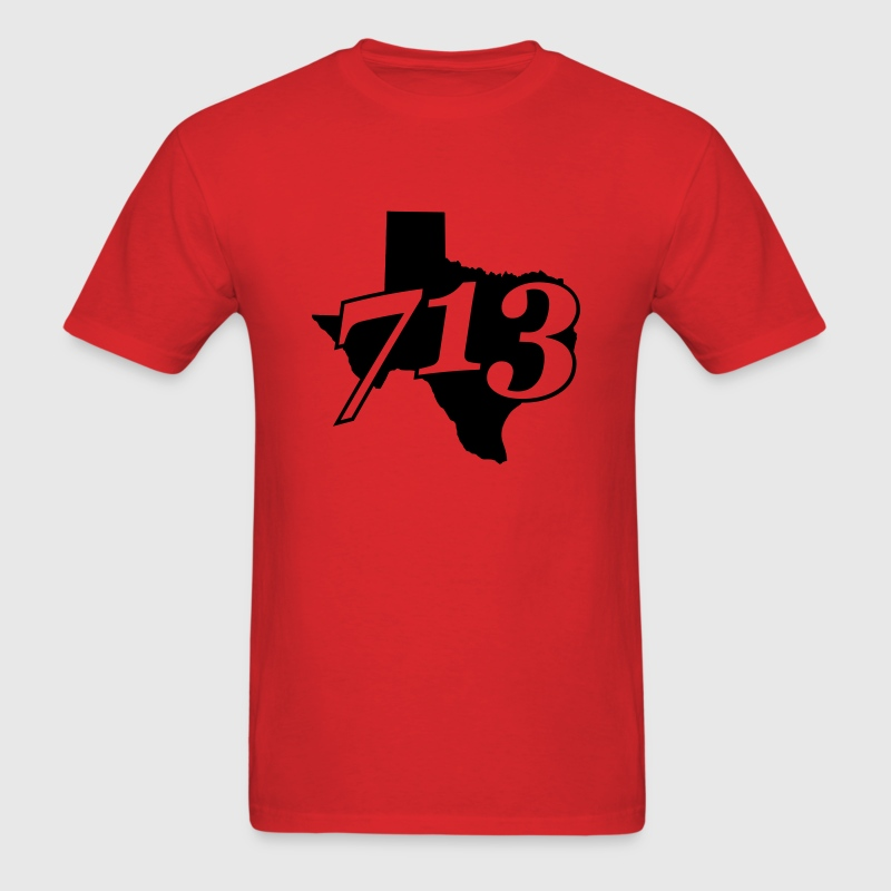 Houston Texas Area Code T-Shirt - Men's T-Shirt