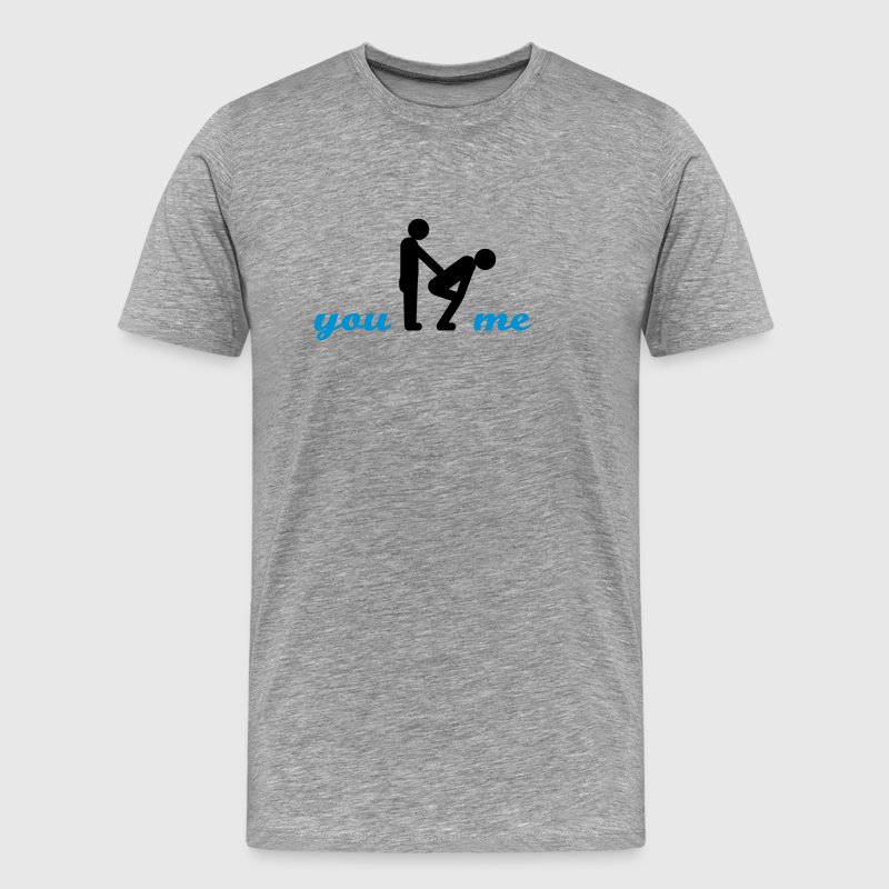 gay guys bottom T-Shirts - Men's Premium T-Shirt