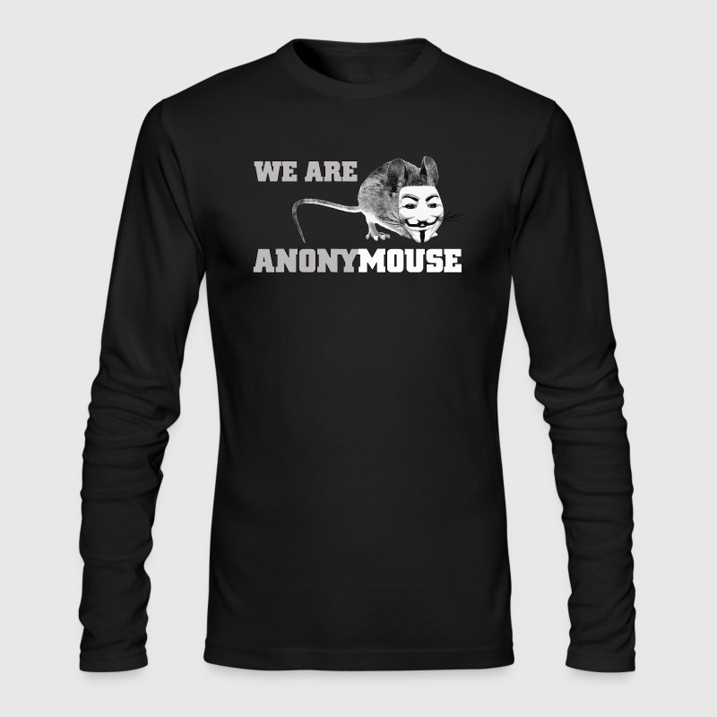 We are anony mouse - anonymous Long Sleeve Shirts - Men's Long Sleeve T-Shirt by Next Level
