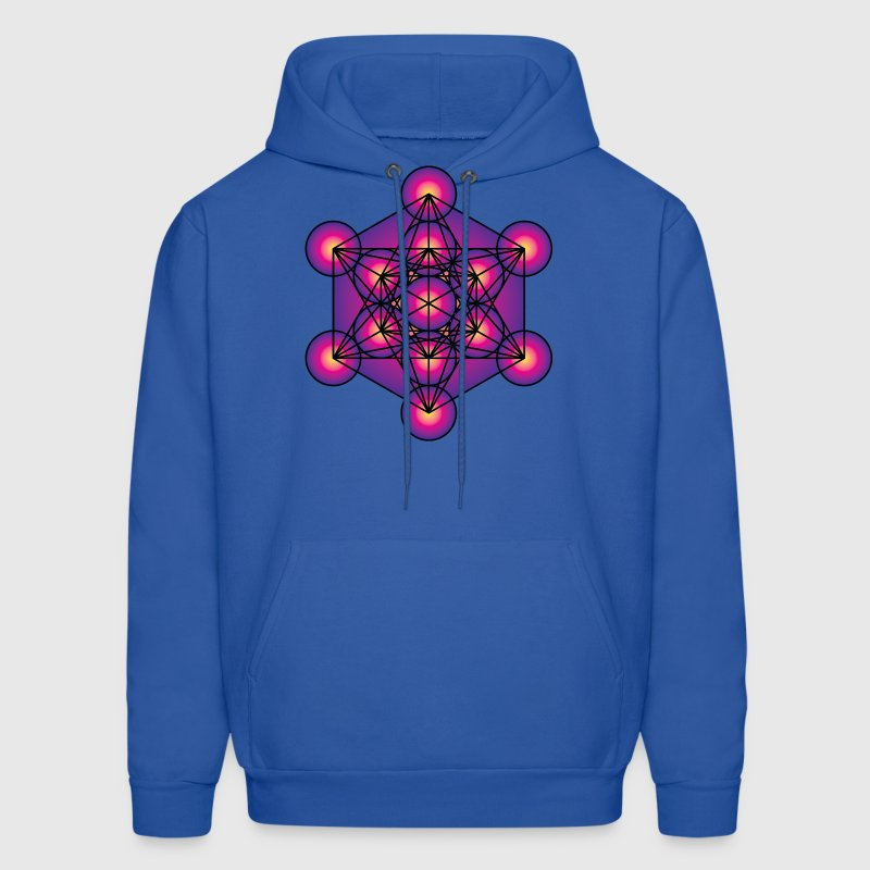 Metatron's Cube Men's Hooded Sweatshirt - Men's Hoodie