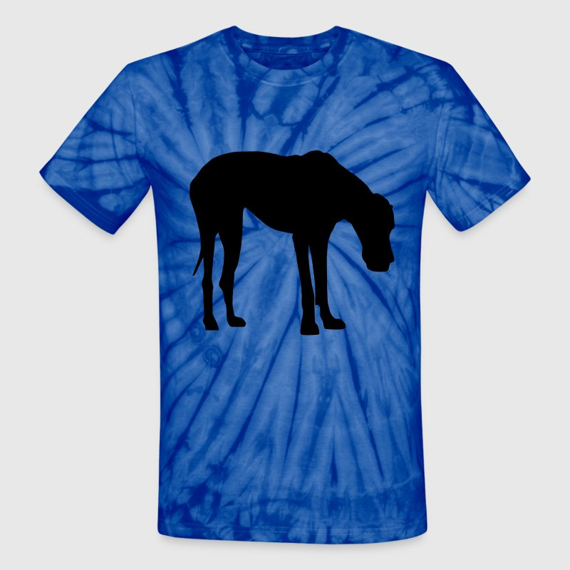 Great Dane natural Ears Black T-Shirts - Unisex Tie Dye T-Shirt