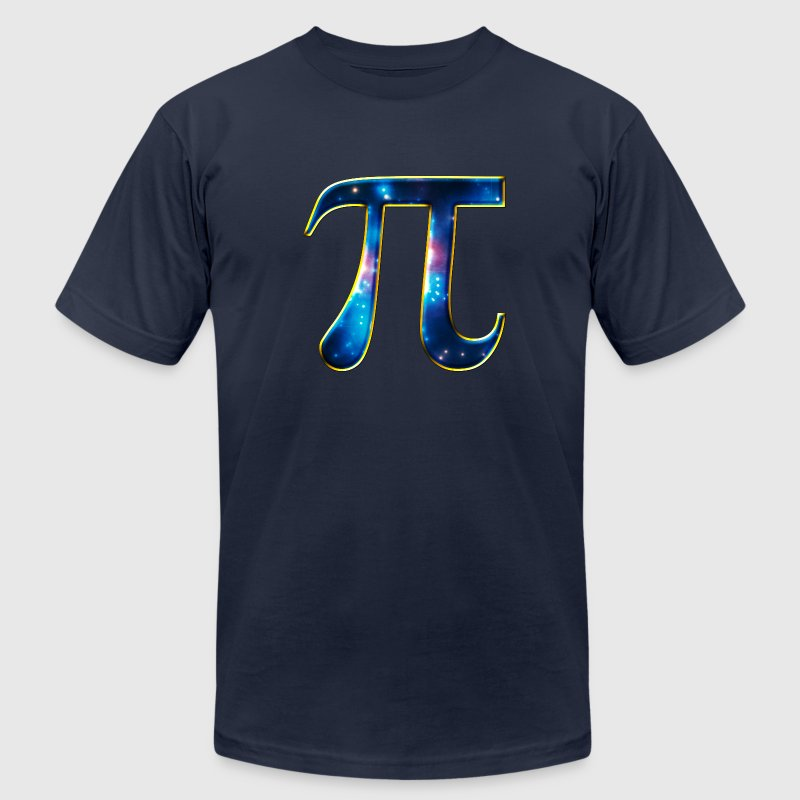 Pi π Symbol Math Mathematics Universe Galaxy Space T-Shirts - Men's T-Shirt by American Apparel