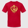 Khanda Sikh Symbol Swords Religion Sikhism T-Shirts - Men's T-Shirt by American Apparel