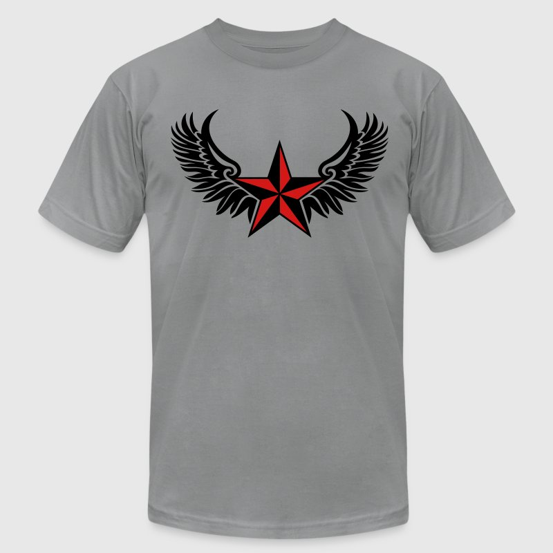 Nautical Star Wings, Tattoo Style, Protection Sign T-Shirts - Men's T-Shirt by American Apparel