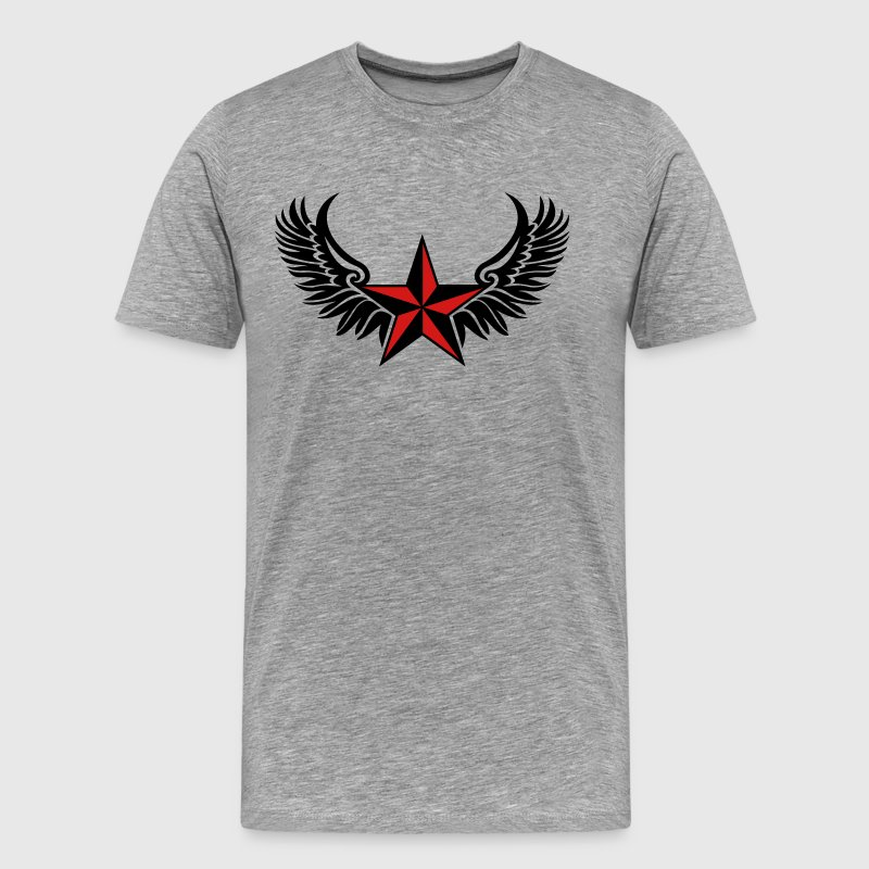 Nautical Star Wings, Tattoo Style, Protection Sign T-Shirts - Men's Premium T-Shirt