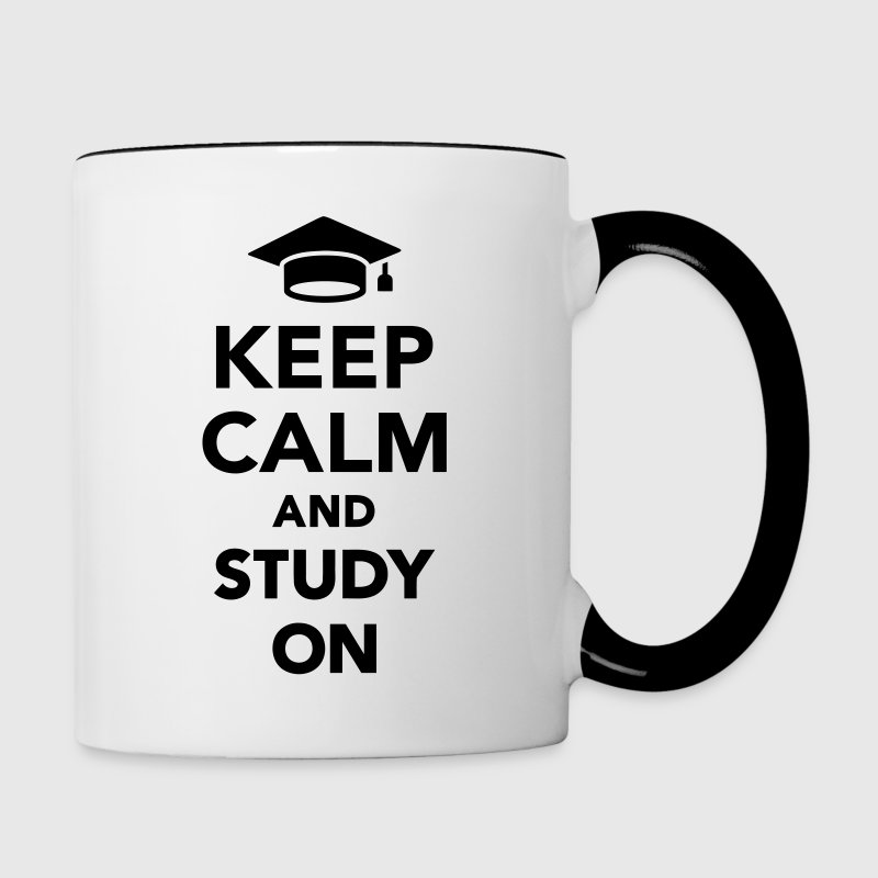 Keep calm and study on Bottles & Mugs - Contrast Coffee Mug