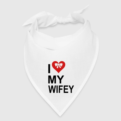 I  Love My wifey Bottles & Mugs - Bandana