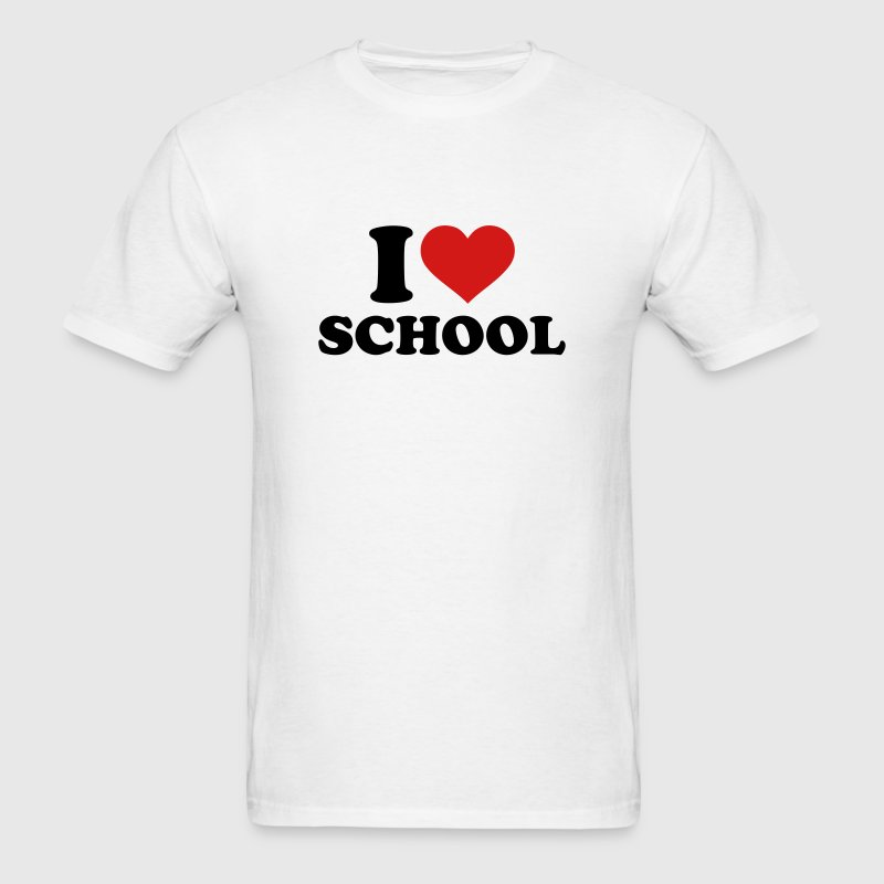 I love School T-Shirts - Men's T-Shirt