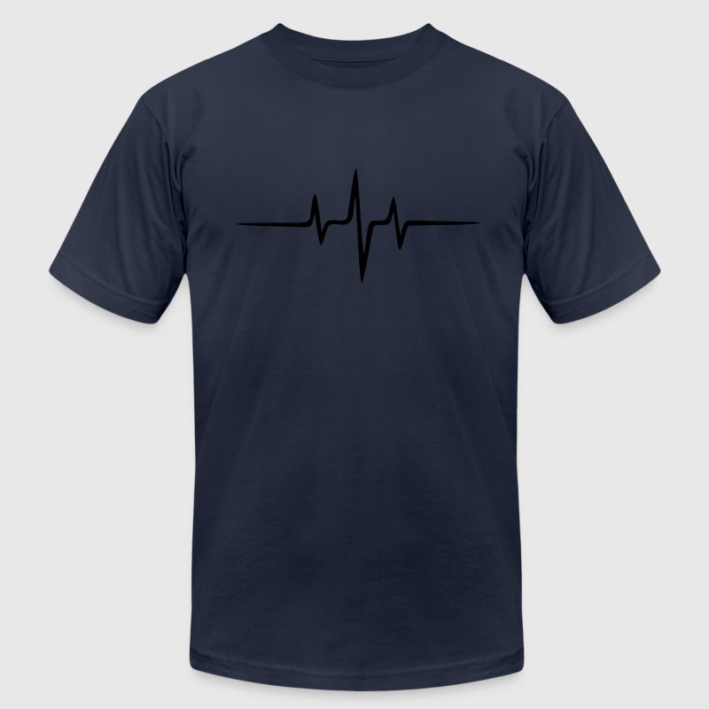 Music Pulse Dub Techno House Dance Trance T-Shirts - Men's T-Shirt by American Apparel