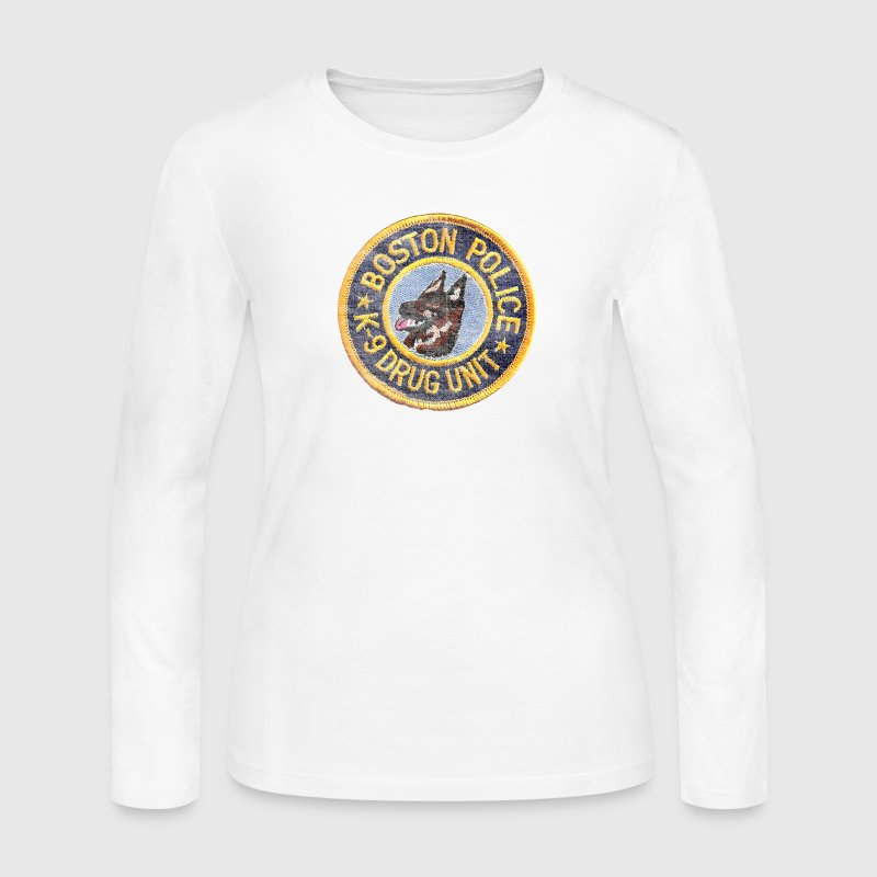 Boston Police K-9 Apparel T-shirts Long Sleeve Shirts - Women's Long Sleeve Jersey T-Shirt