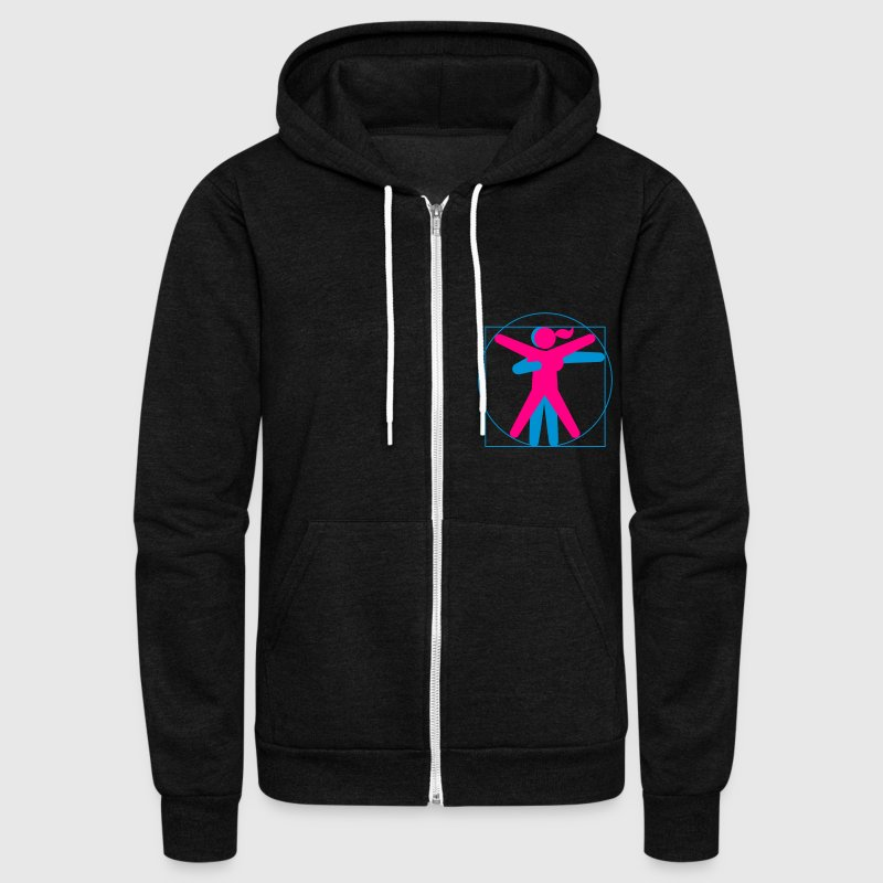 Kamasutra - Vitruvian BDSM - Unisex Fleece Zip Hoodie by American Apparel