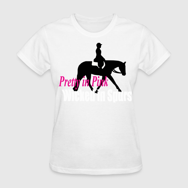 HUS: Pretty in Pink; Wicked in Spurs Women's T-Shirts - Women's T-Shirt