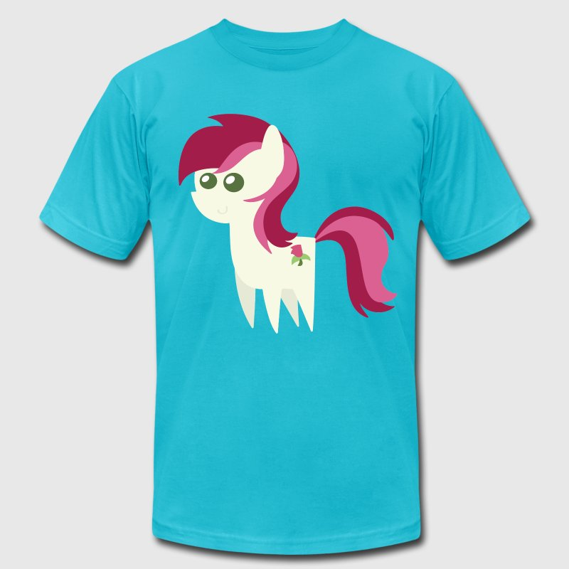 Roseluck My Little Pony - Men's T-Shirt by American Apparel