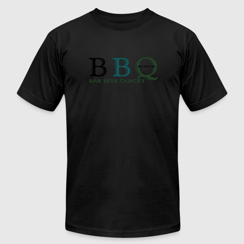 bbq_bar_beer_quicky_vec_3 us T-Shirts - Men's T-Shirt by American Apparel