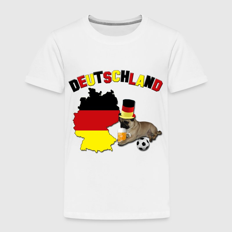 Germany Football World Cup Pug Baby & Toddler Shirts - Toddler Premium T-Shirt
