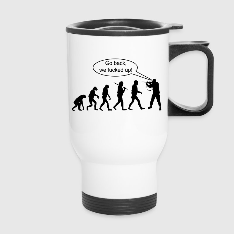 Evolution: Go Back ! - Travel Mug