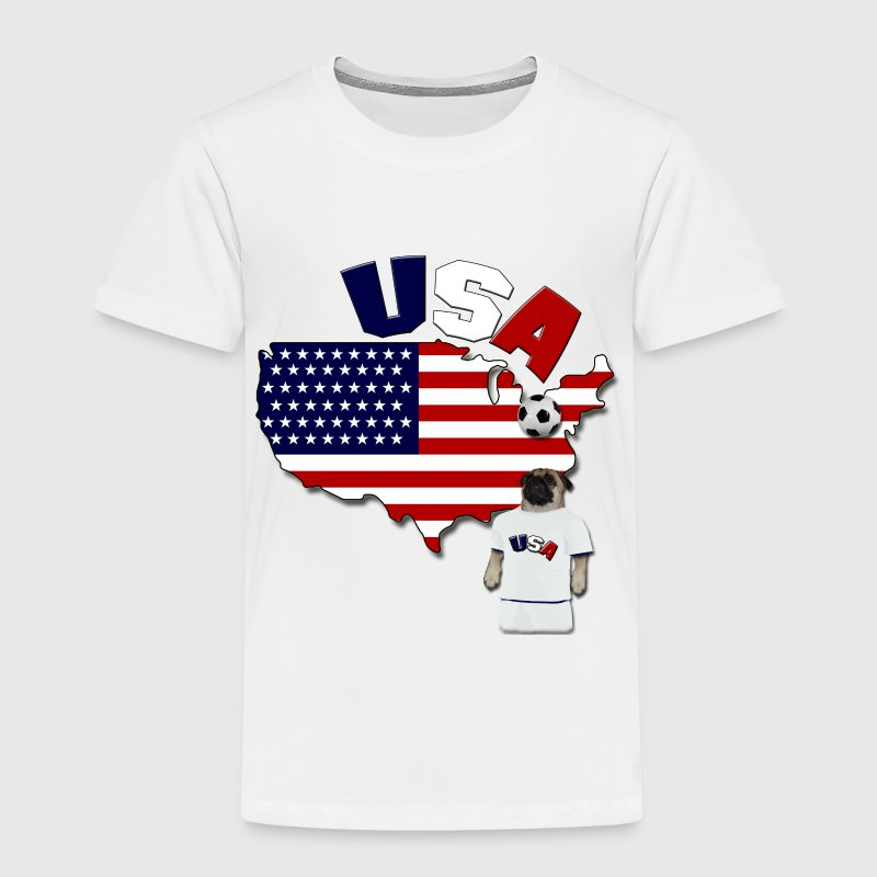 USA Football World Cup Pug Baby & Toddler Shirts - Toddler Premium T-Shirt