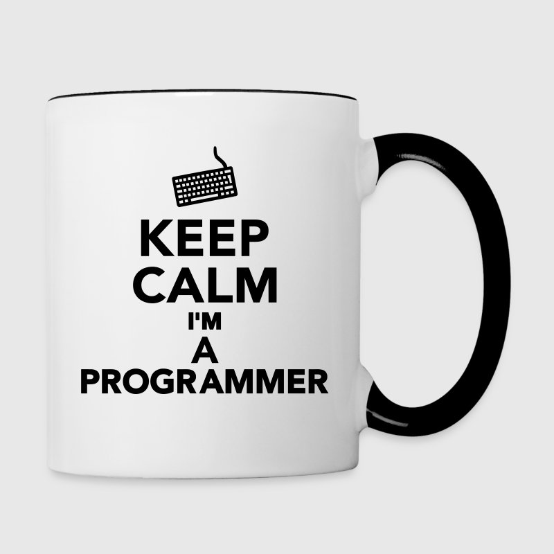 Keep calm I'm a Programmer Bottles & Mugs - Contrast Coffee Mug