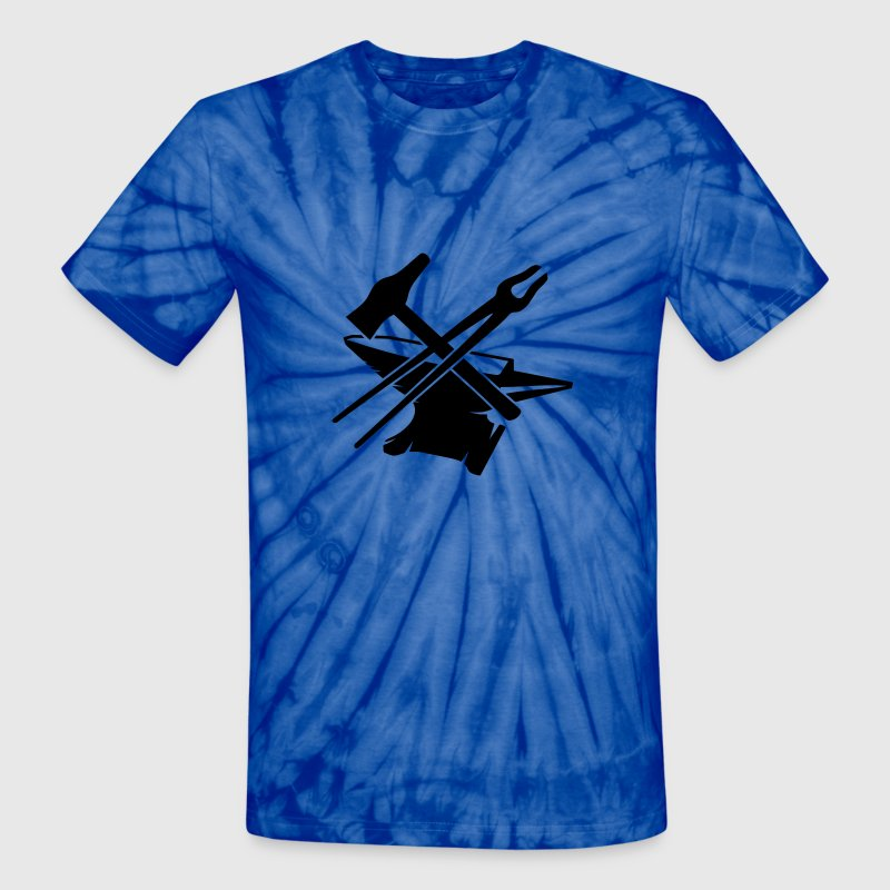 Anvil with hammer and tongs T-Shirts - Unisex Tie Dye T-Shirt