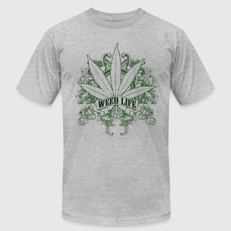 7 Weed Design - Green T-Shirts - Men's T-Shirt by American Apparel