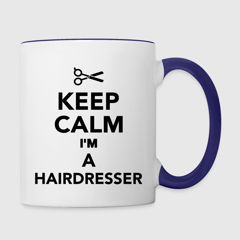 Keep calm I'm a Hairdresser Bottles & Mugs - Contrast Coffee Mug