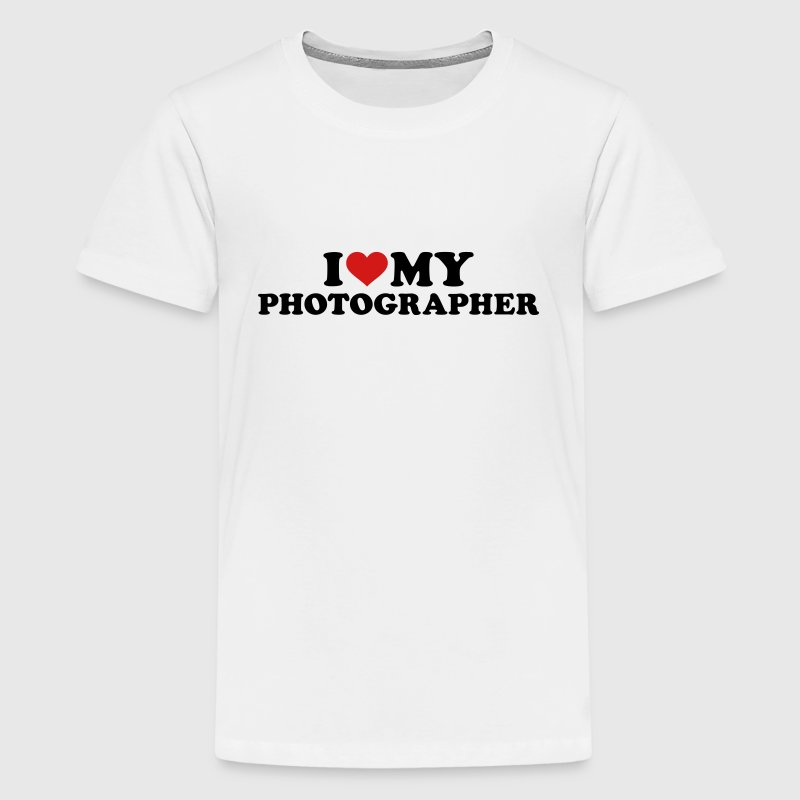 I love my Photographer Kids' Shirts - Kids' Premium T-Shirt