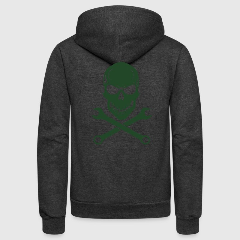 Car Tuning / Car & Bike Wrench - Skull Zip Hoodies & Jackets - Unisex Fleece Zip Hoodie