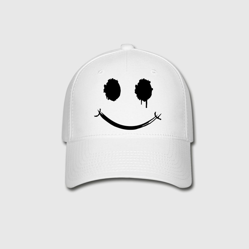A smiley face graffiti Caps - Baseball Cap