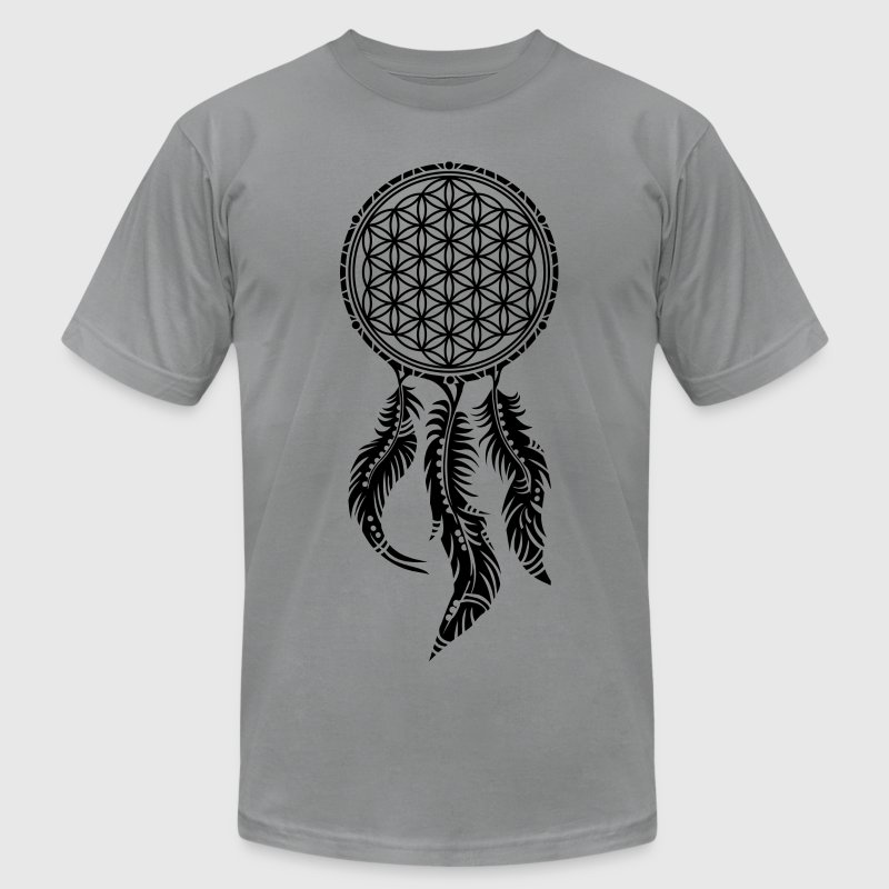 Flower of Life, Dream Catcher, Spiritual, Indians  - Men's T-Shirt by American Apparel