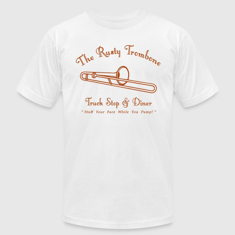 The Rusty Trombone T-Shirts - Men's T-Shirt by American Apparel