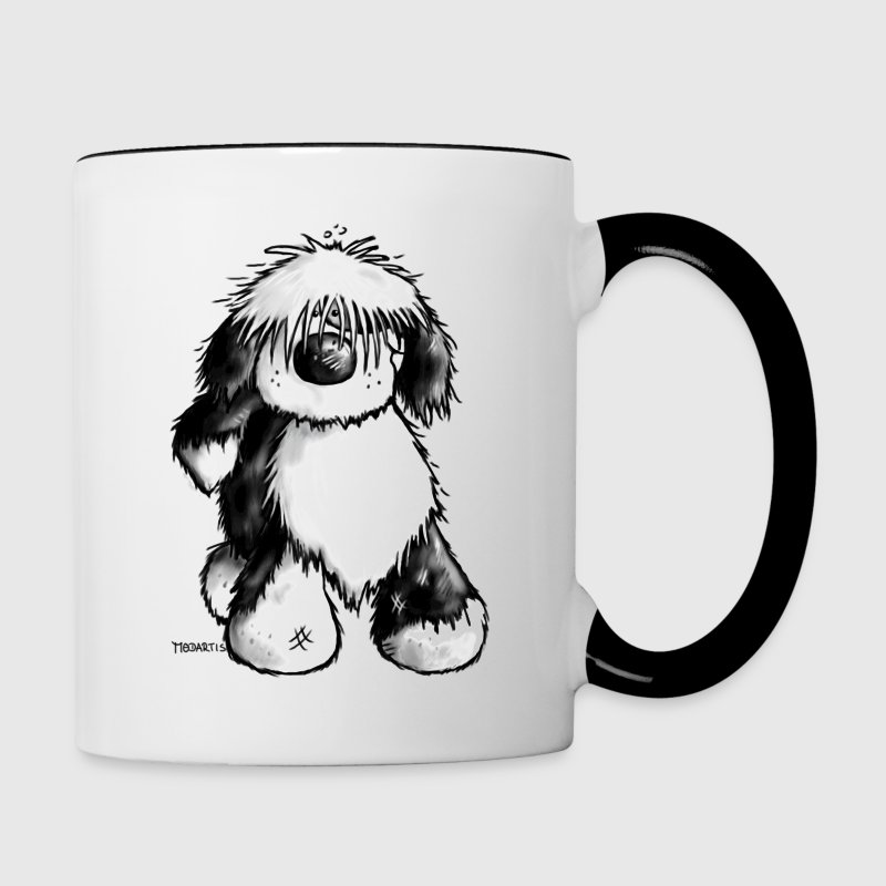 Funny Tibetan Terrier- Dog Bottles & Mugs - Contrast Coffee Mug