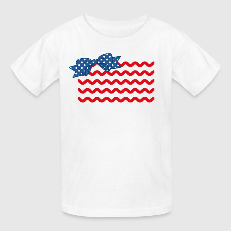 Girly Rick Rack Flag Kids' Shirts - Kids' T-Shirt