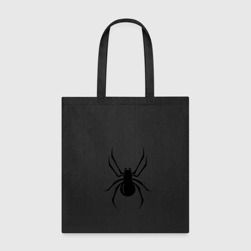 a black spider with eight legs  Bags & backpacks - Tote Bag
