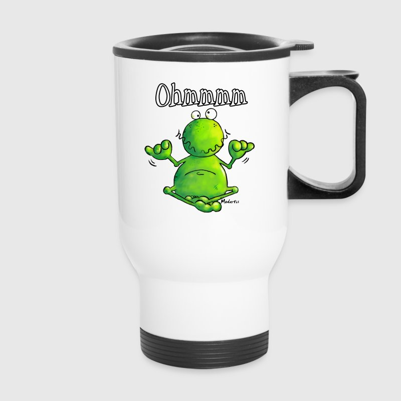 Ohmmm Frog - Frogs - Meditation Bottles & Mugs - Travel Mug