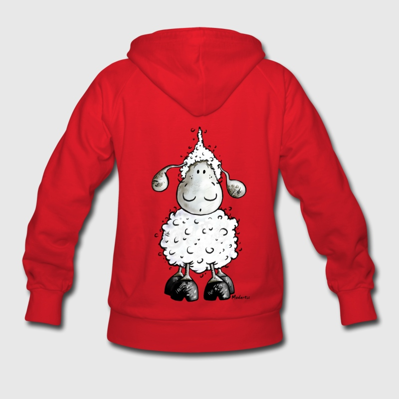 Little White Sheep Cartoon Hoodies - Women's Hoodie