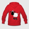 Cute Black Sheep Cartoon Hoodies - Women's Hoodie