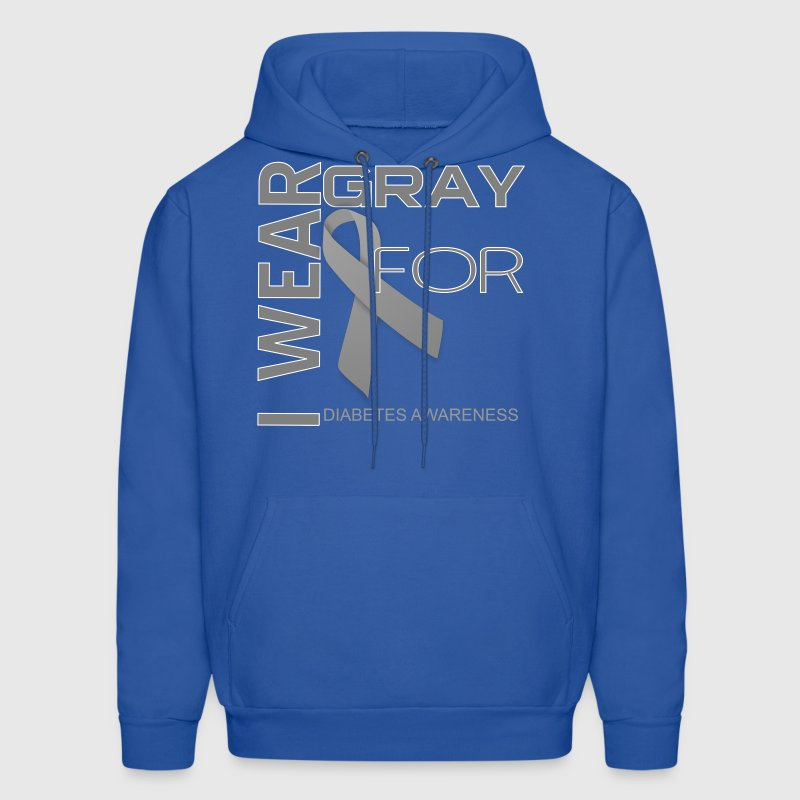 i wear gray for name template Hoodies - Men's Hoodie