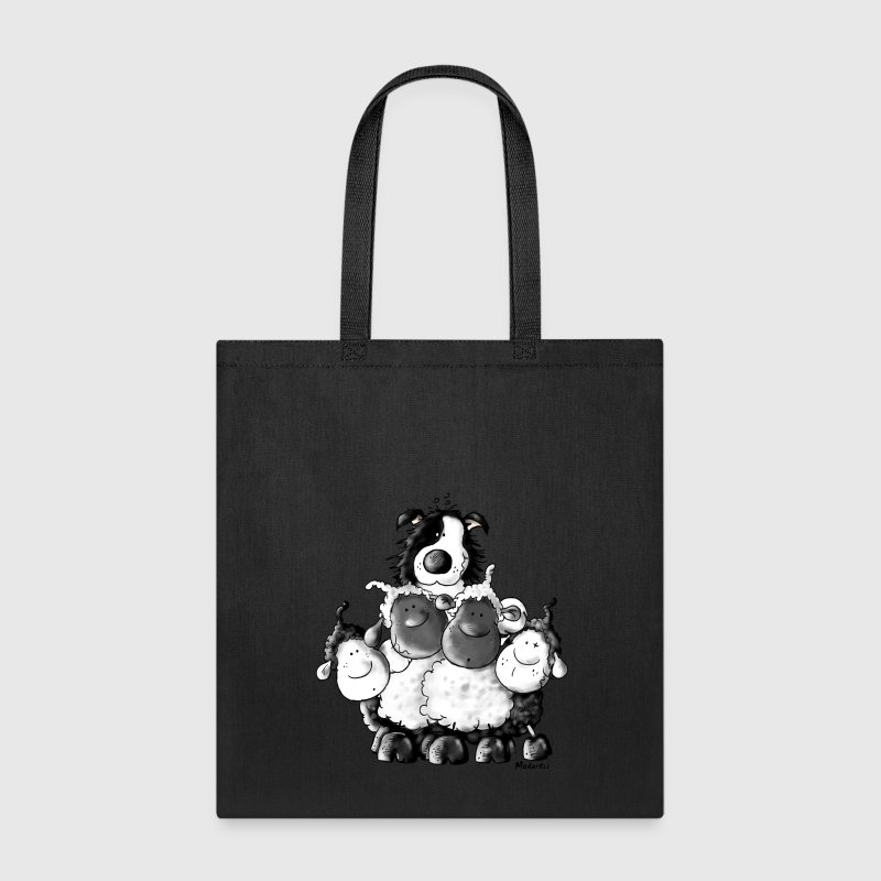 Border Collie And Sheep - Dog Bags & backpacks - Tote Bag