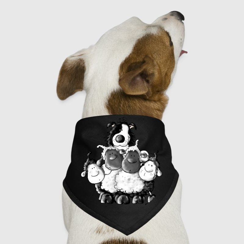 Border Collie And Sheep - Dog Other - Dog Bandana