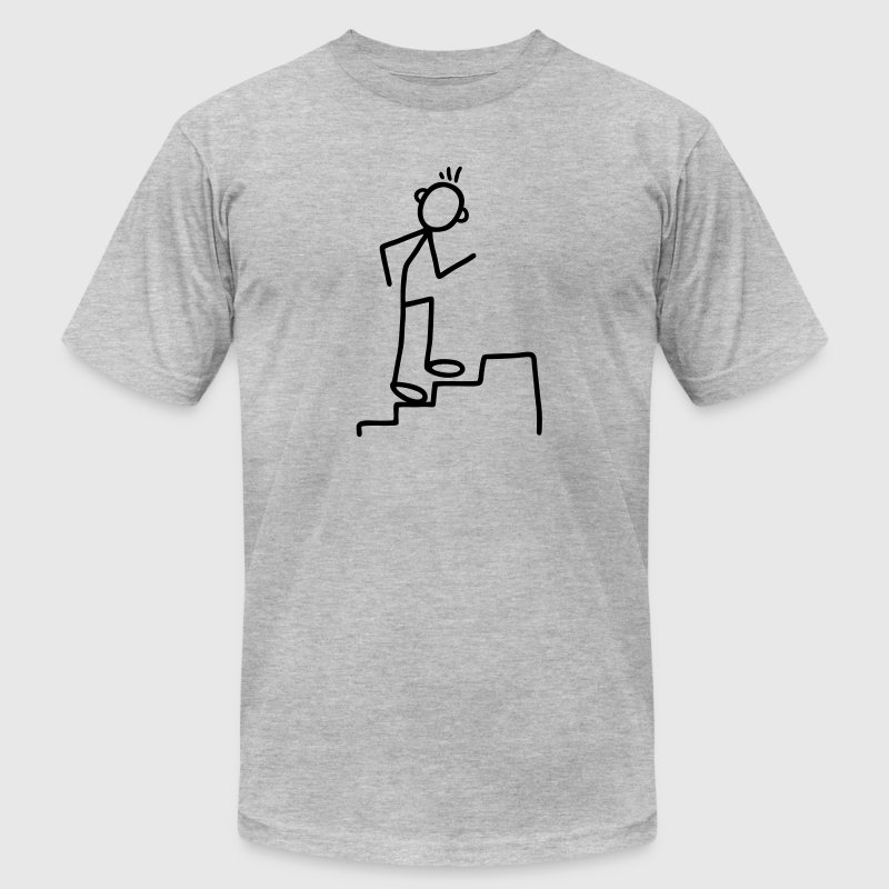Climb stairs - stair rise T-Shirts - Men's T-Shirt by American Apparel