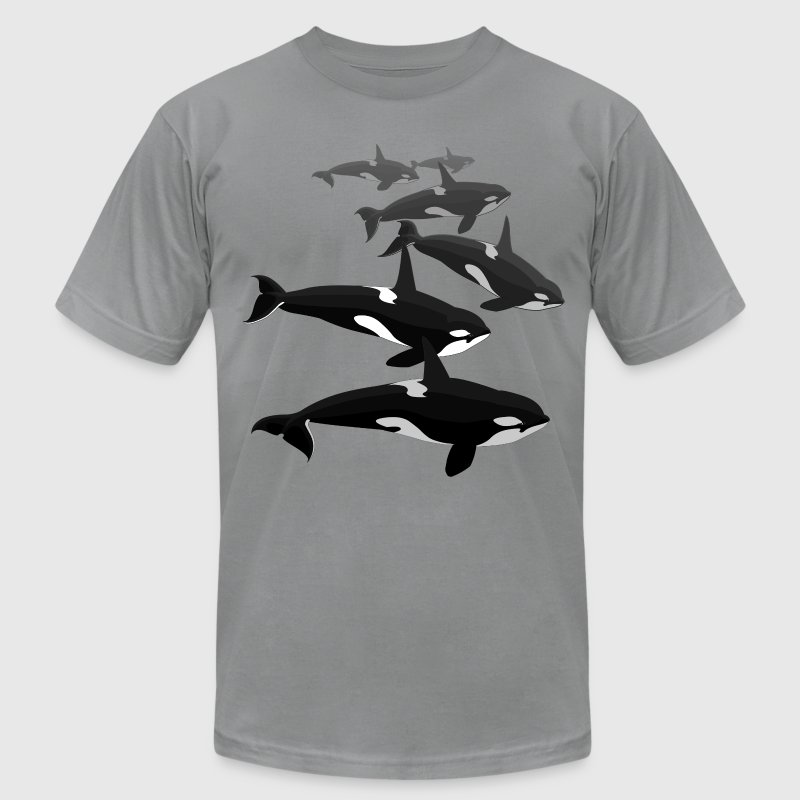 Orca T-shirt Killer Whale Shirts - Men's T-Shirt by American Apparel