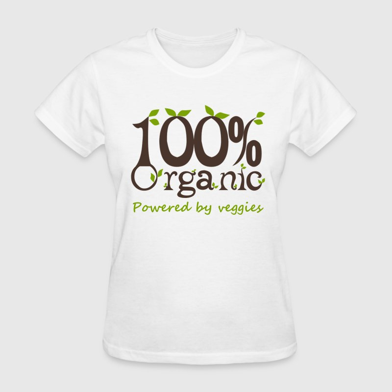 100% Organic Powered By Veggies Women's T-Shirts - Women's T-Shirt