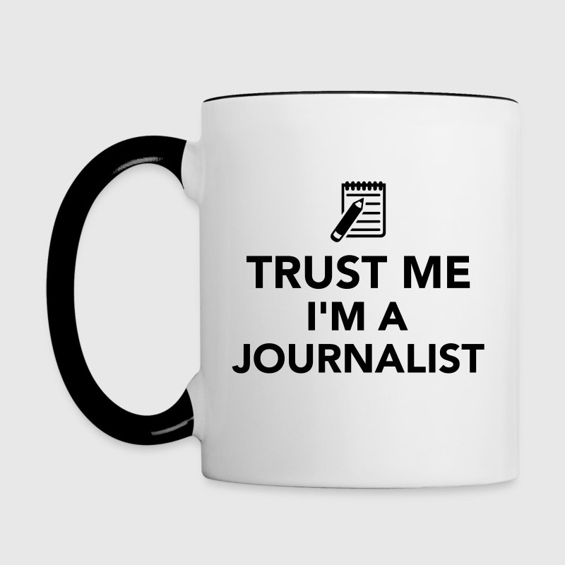 Trust me I'm a Journalist Bottles & Mugs - Contrast Coffee Mug