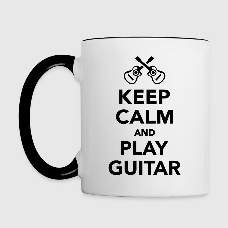 Keep calm and Play guitar Bottles & Mugs - Contrast Coffee Mug