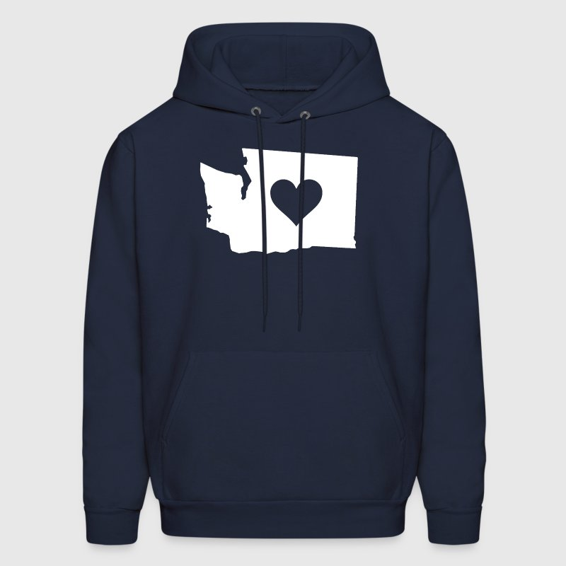 Heart in Washington Hoodies - Men's Hoodie