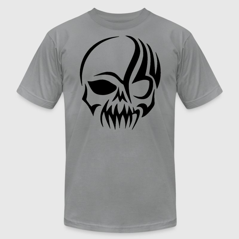 Tribal Skull T-Shirts - Men's T-Shirt by American Apparel