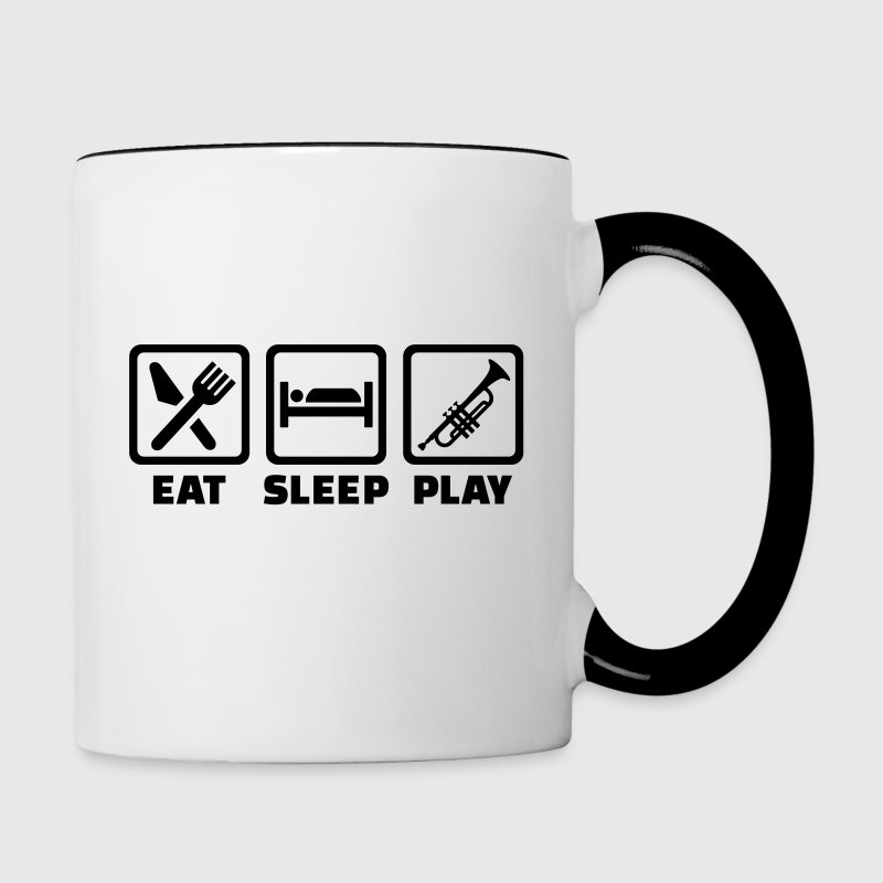 Eat Sleep Trumpet Bottles & Mugs - Contrast Coffee Mug