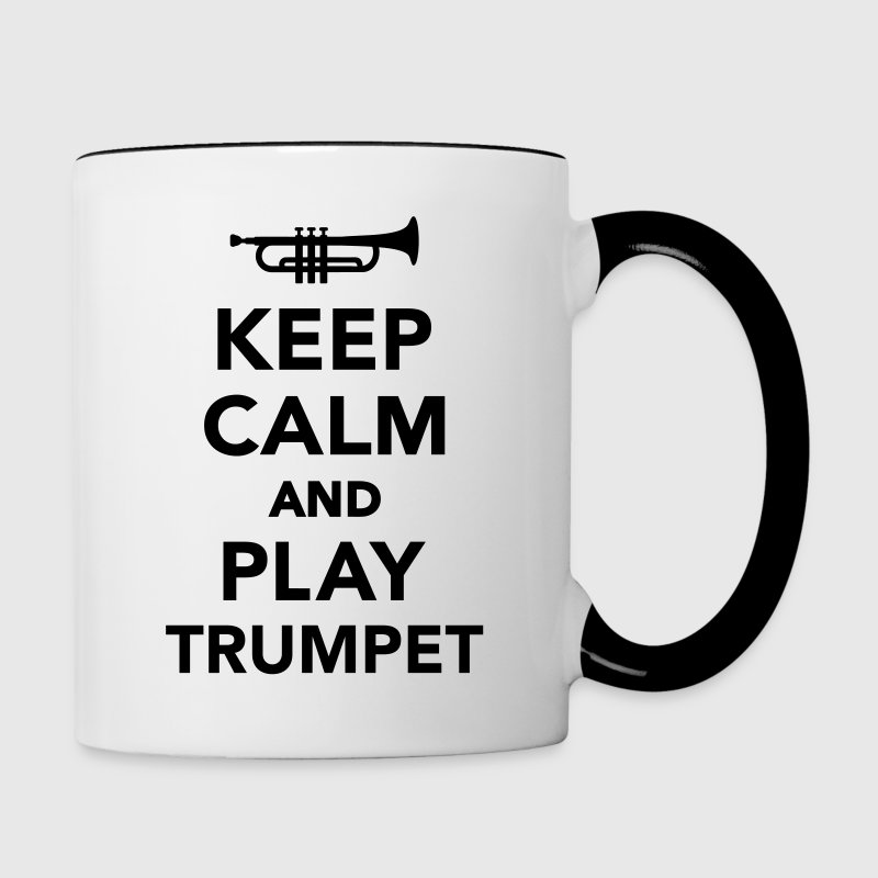 Keep calm and Play trumpet Bottles & Mugs - Contrast Coffee Mug